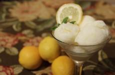 Lemon Buttermilk Sherbet